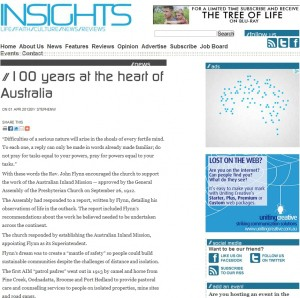 Insights – '100 years at the heart of Australia'