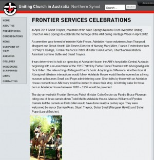 Northern Synod News – 'Frontier Services Celebrations'