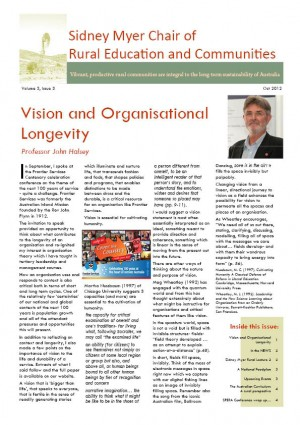 Sidney Myer Chair of Rural Education and Communities Newsletter –
