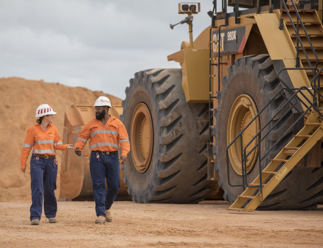 Rio Tinto Workers with Machinery