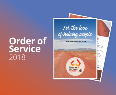 Frontier Services - Order of Service 2018