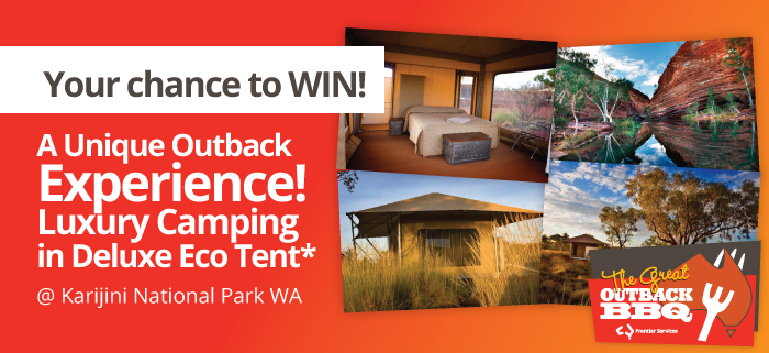 Chance to win a unique outback experience luxury camping in deluxe eco tent