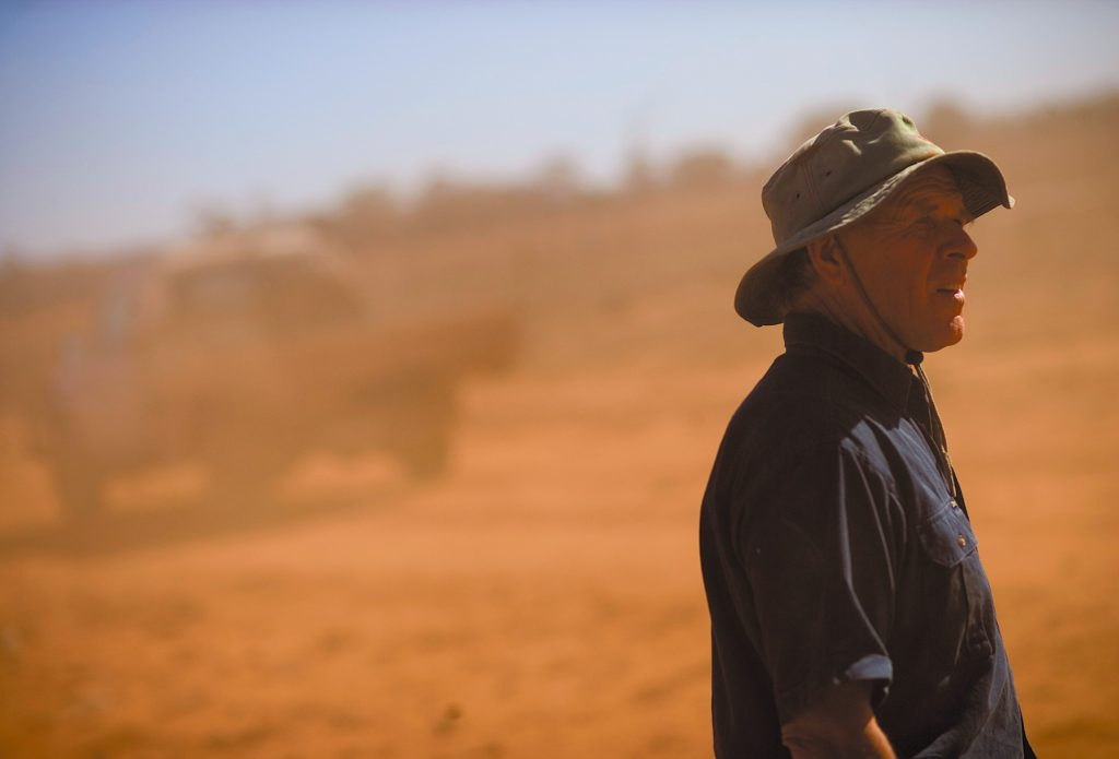A farmers despair during this tough drought