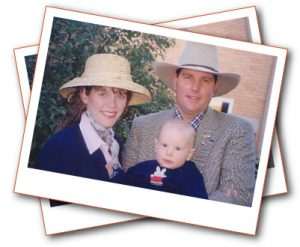 Alison and Rhett with baby Brendan
