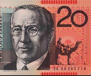 John Flynn on the Australian twenty dollar $20 note