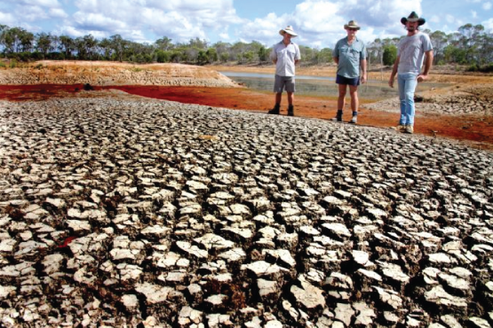 Severe drought in Northern Queensland (Image via https://www.abc.net.au/news/2017-03-13/drought-declared-in-more-southern-queensland-regions/8349056)