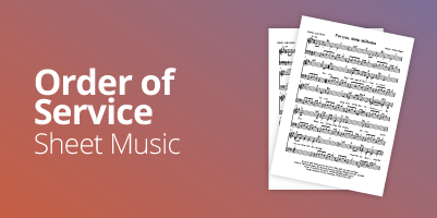 Frontier Services - Order of Service - Sheet Music