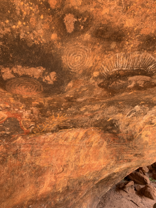 Cave paintings at Uluru